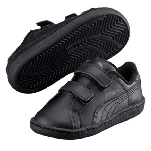 Black Puma Smash FUN L V Infant Sneakers 2a3cfb8db